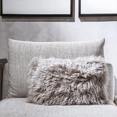 Tibet Lamb Cushion (Rectangle)(Light Grey)