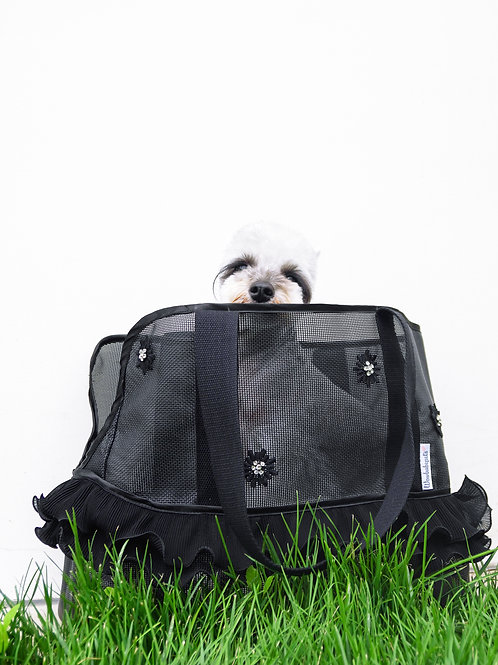 Daisy Mesh Pet Carrier (Black)