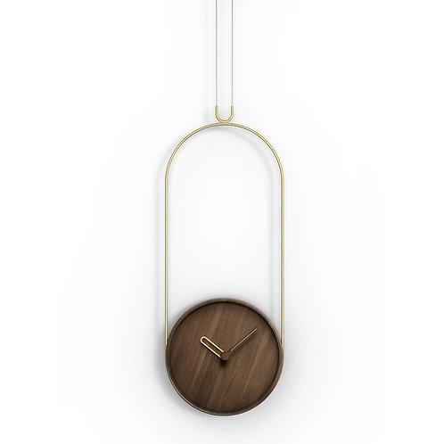 Colgante Clock (Walnut)