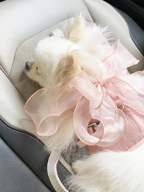 Fairy Bow Harness & Leash Set (Pink)