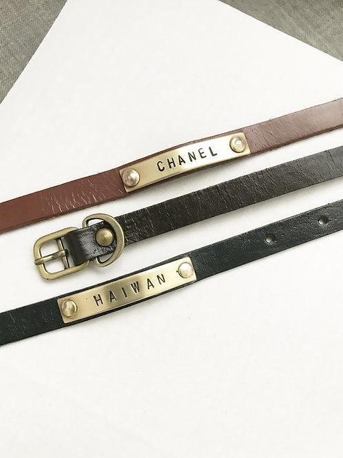 Custom Leather Collar