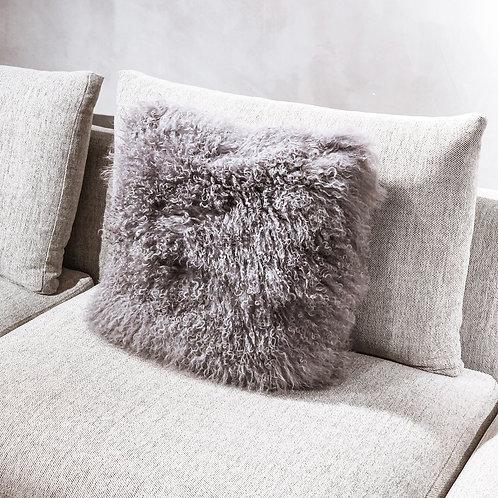 Tibet Lamb Cushion (Square)(Dark Grey)