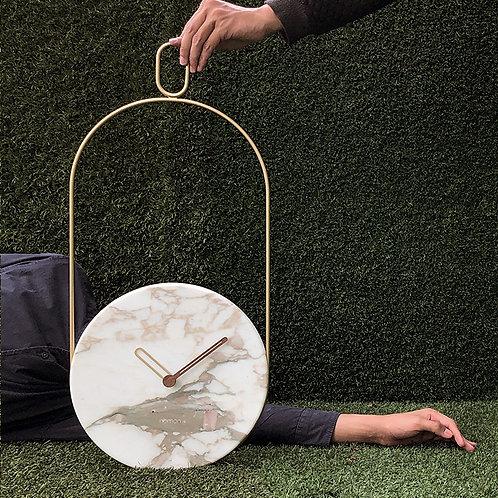 Eslabon Clock (Calacatta)