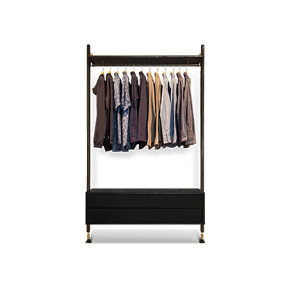 Theo Wall Unit with Clothing Rail with Drawer
