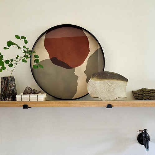 Overlapping Dots Glass Round Tray
