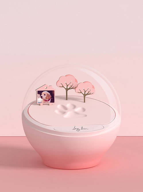 Paw Imprint Dome (Pink)