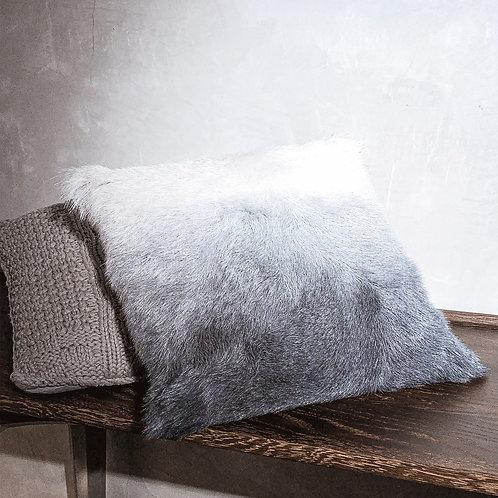 Goat Fur Cushion (White Ombre)