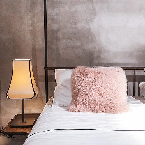 Tibet Lamb Cushion (Square)(Pink)