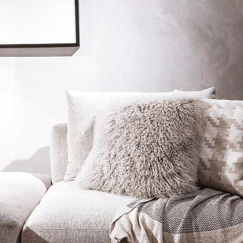 Tibet Lamb Cushion (Square)(Light Grey)