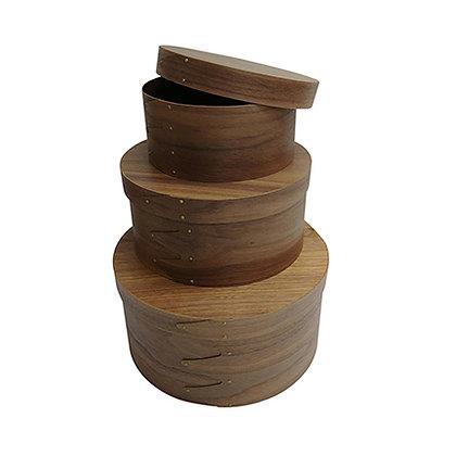 Walnut Shaker Box (Set of 3)