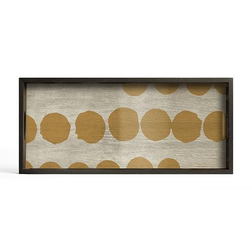 Sienna Dots Glass Rectangular Tray