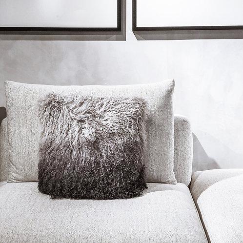Tibet Lamb Cushion (Square)(Grey Ombre)
