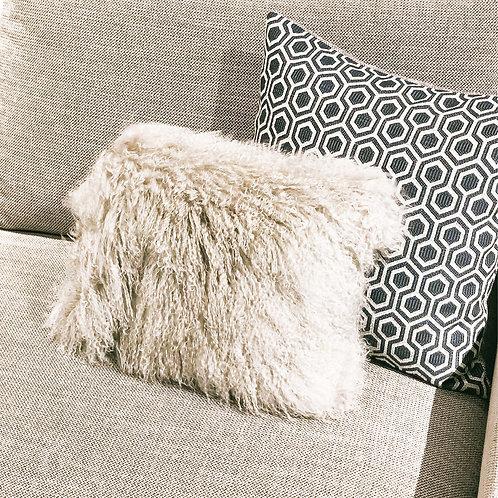 Tibet Lamb Cushion (Small Rectangle)(Light Grey)