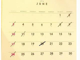 6月の休診日(不定期なお休みとなります)
