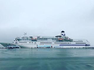 木更津に豪華客船🚢