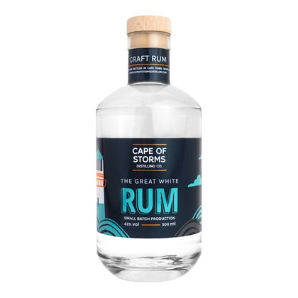 Cape Of Storms White Rum (500ml)