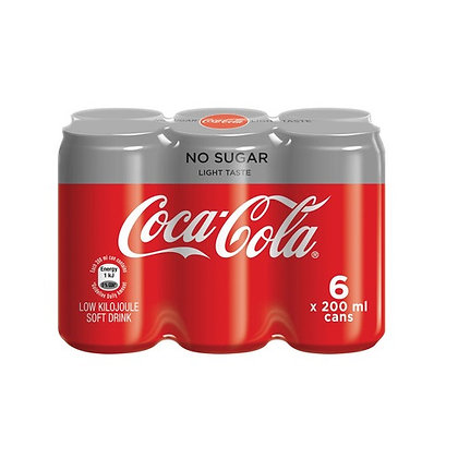 Coca-Cola Light 200ml Cans (6-pack)
