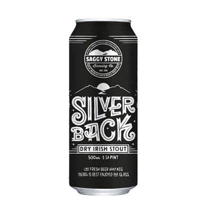 Saggy Stone Silverback Stout 500ml (24-case)