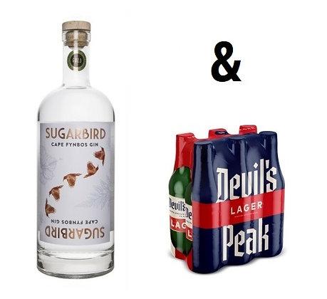 Sugarbird Gin (1L) & Devil's Peak Lager Offer