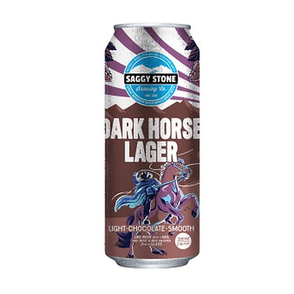 Saggy Stone Dark Horse Lager 500ml (4-pack)