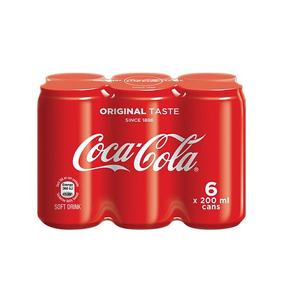 Coca-Cola 200ml Cans (6-pack)