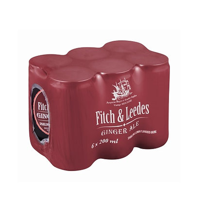 Fitch & Leedes Ginger Ale (6-pack)