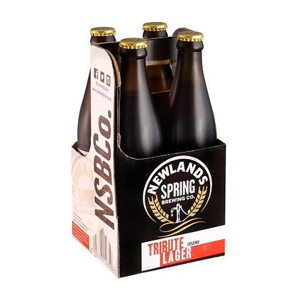 Newlands Spring Tribute Lager 440ml (4-pack)