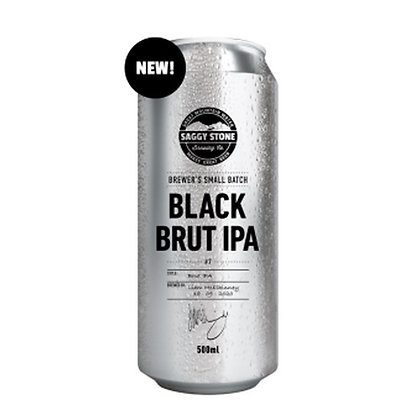 Saggy Stone Black Brut IPA 500ml (4-pack)