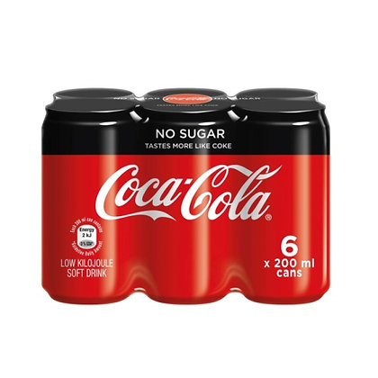 Coca-Cola Zero 200ml Cans (6-pack)
