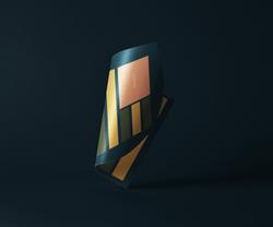 Folded-Glossy-Paper-Branding-Mockup
