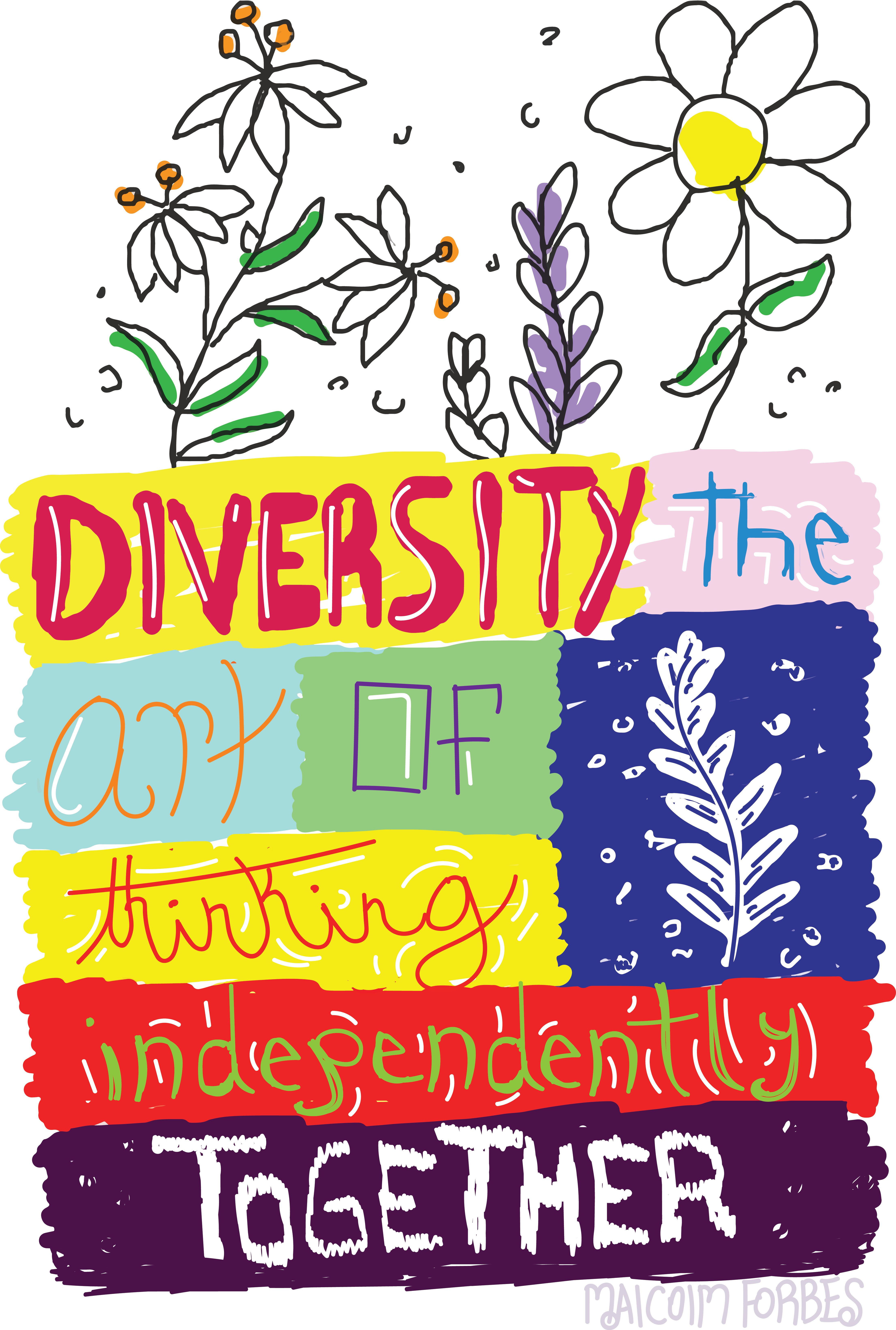 Handwritten Typography- Diversity