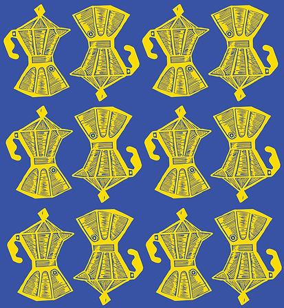 Cafeteras Pattern Yellow + Blue.jpg