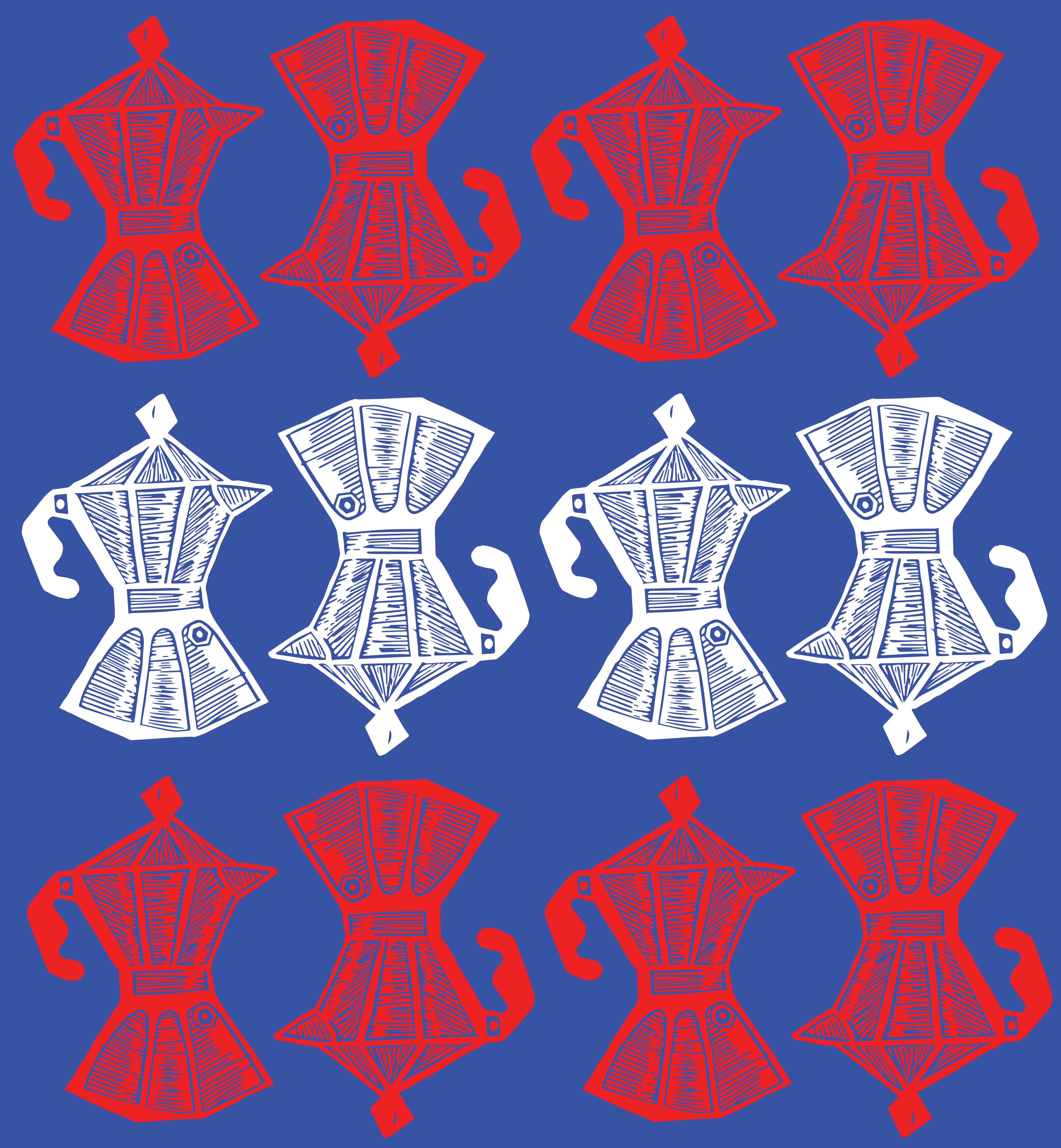 Cafeteras Pattern Cuba