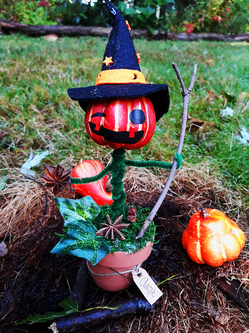 Pumpkin Witch - Sculptures