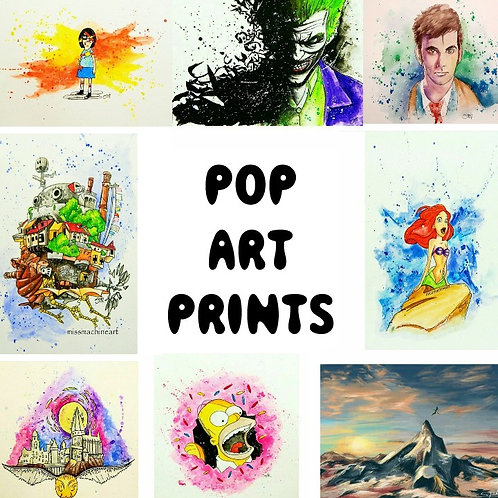 "1/1 Pop Art Prints (LIMITED) 8.5"" x 11"""