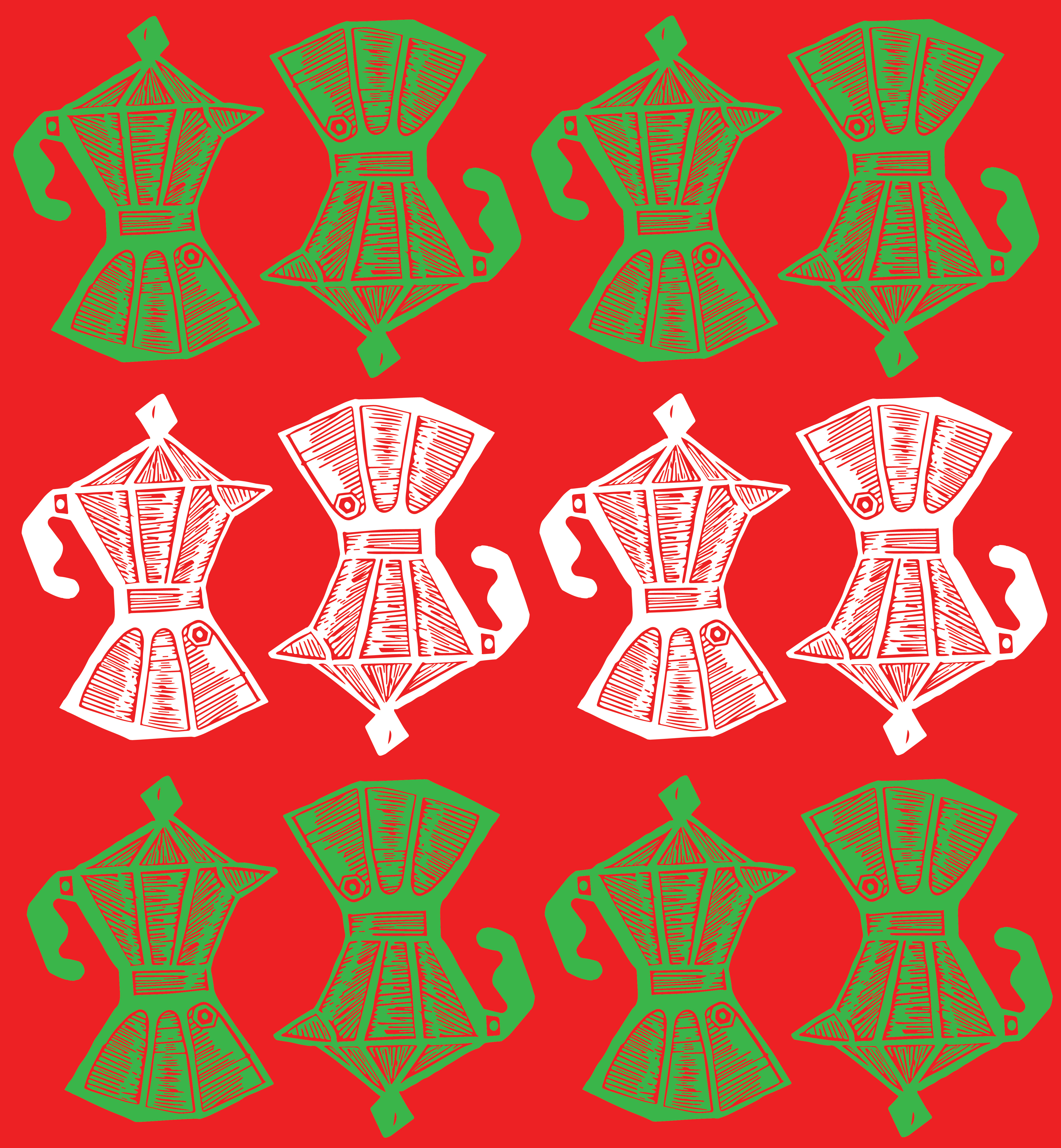 Cafeteras Pattern Italy
