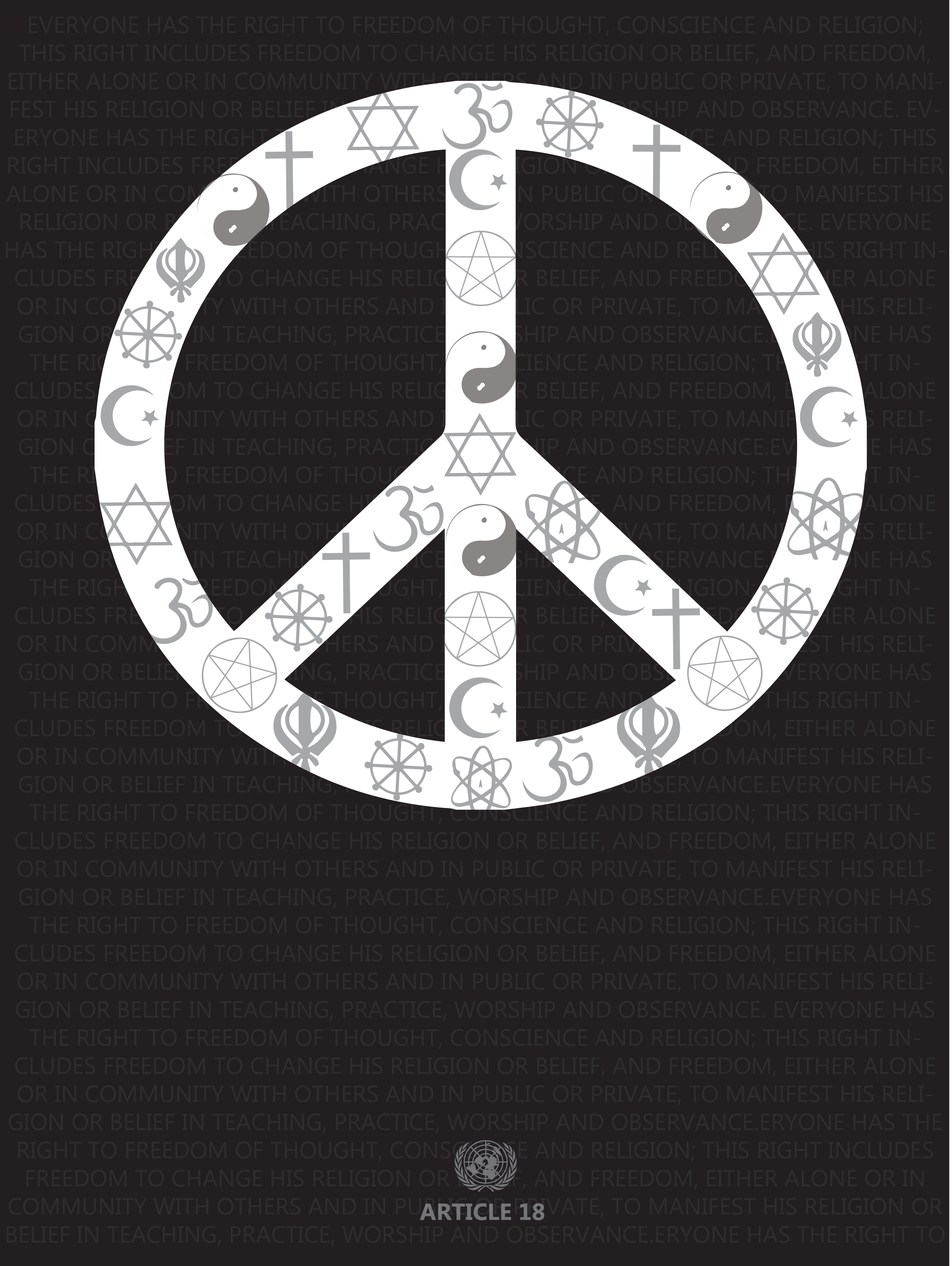Article 18 Poster 2- Peace Sign