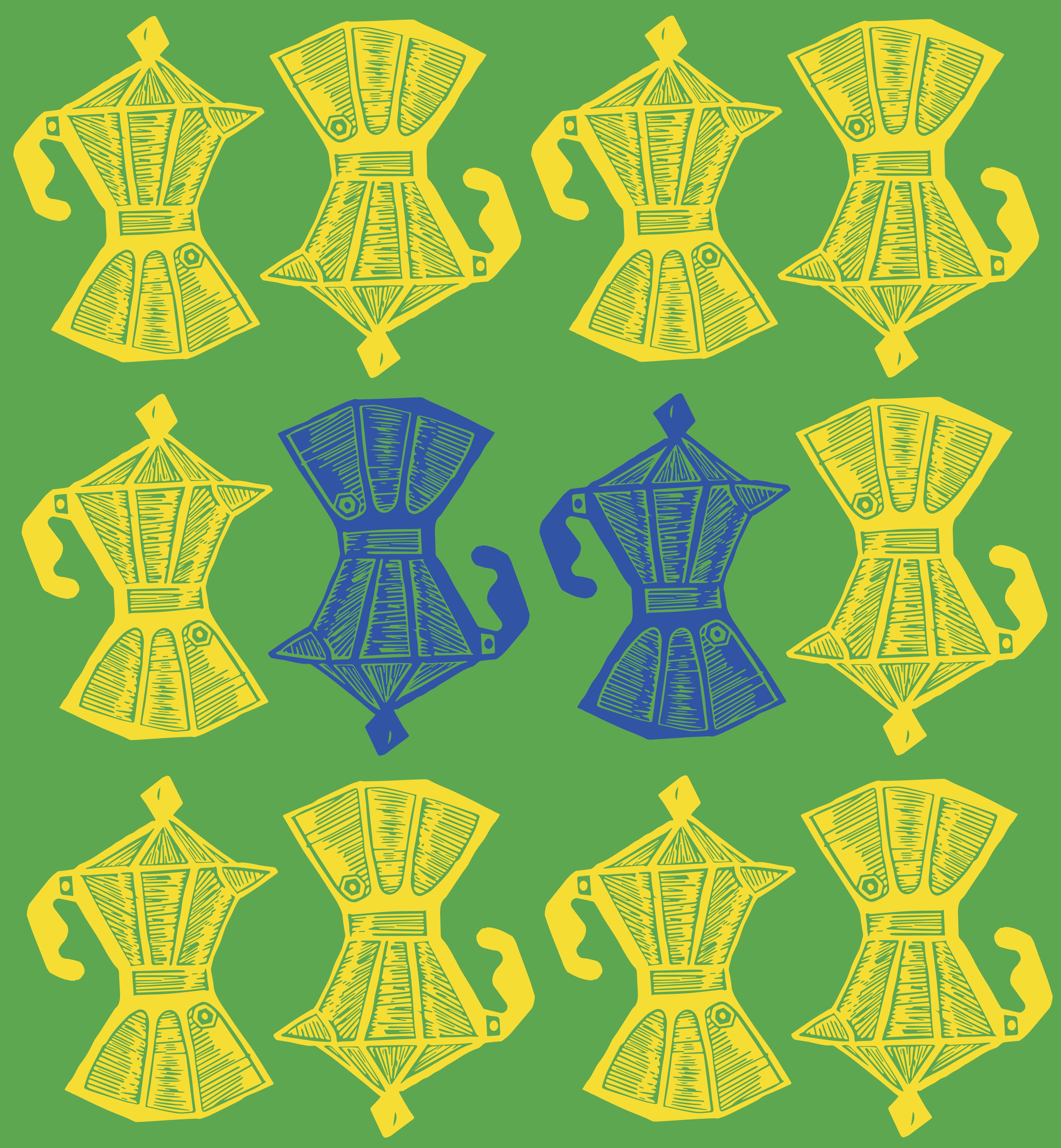 Cafeteras Pattern Brazil