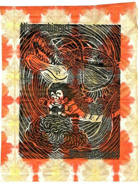 """Ride On! Limited Run on Handmade Paper- 7.5x9"""" to 7.5x10"""""""