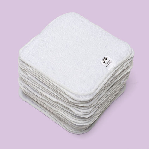 Premium Washable Baby Wipes - Cotton Terry Cloth - 15cm square - Cheeky Wipes