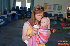 Baby carried in a ring sling