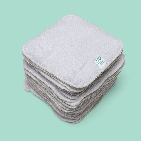 Washable Baby Wipes - Cotton Terry Cloth - 15cm square - Cheeky Wipes