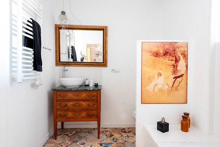 Salle de bain de la chambre d'hôtes en Drôme provençale