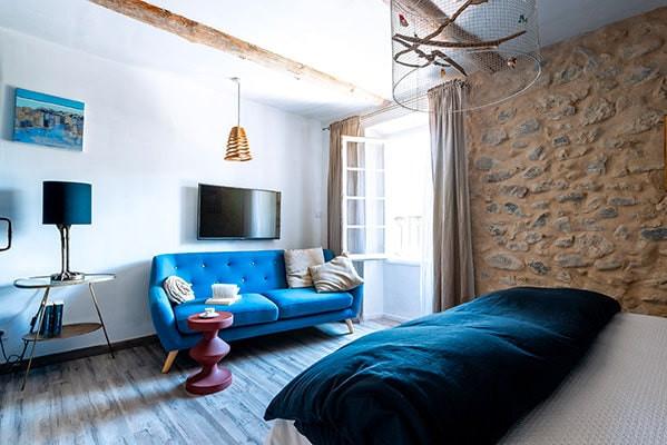 chambre Bleu amour