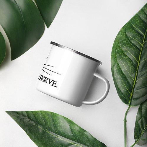 REACH. HEAL. SERVE. Enamel Coffee MUG