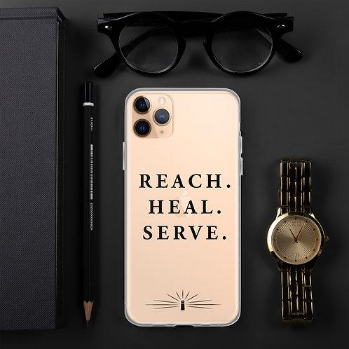 REACH. HEAL. SERVE. iPhone Case Black