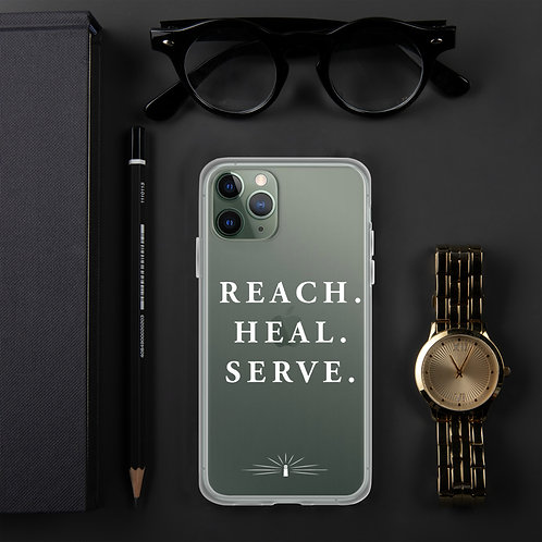 REACH. HEAL. SERVE. iPhone Case