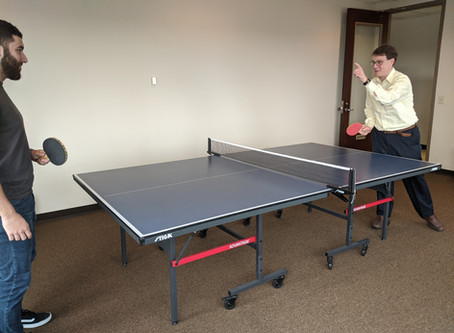 GIRD's ping-pong tournament is in full swing!