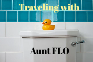 traveling, aunt flo, truck driver, female trucker, woman driver, menopause, period, tampons, pads, midol
