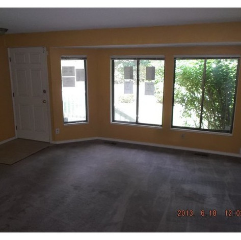 Front living room before